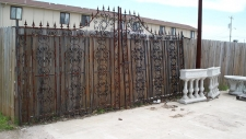 Massive Antique Wrought Iron Entry Gates