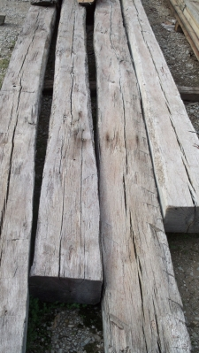 Antique, Reclaimed Hand Hewn Oak Timbers